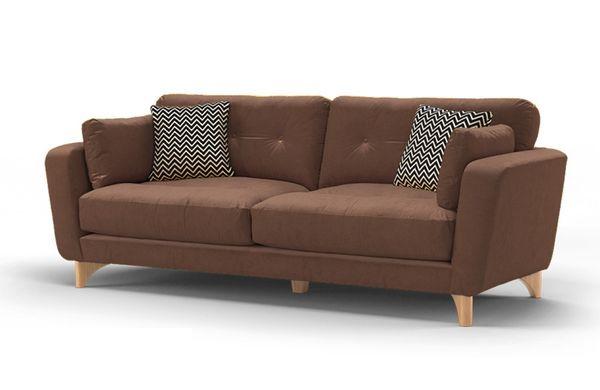 Mẫu sofa nỉ màu nâu - 01