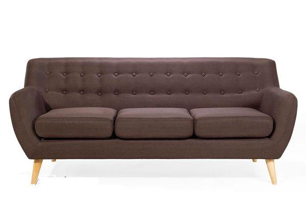 Mẫu sofa nỉ màu nâu - 02
