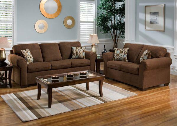 Mẫu sofa nỉ màu nâu - 24