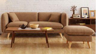 Sofa nỉ màu nâu 8