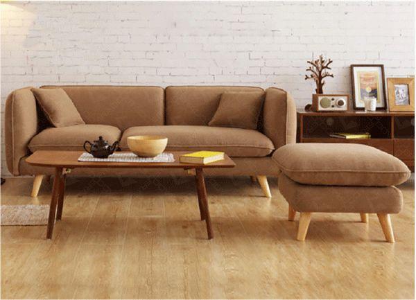 Mẫu sofa nỉ màu nâu - 04